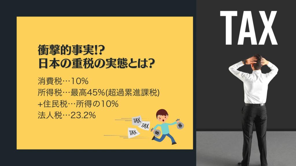 日本の重税の実態とは?